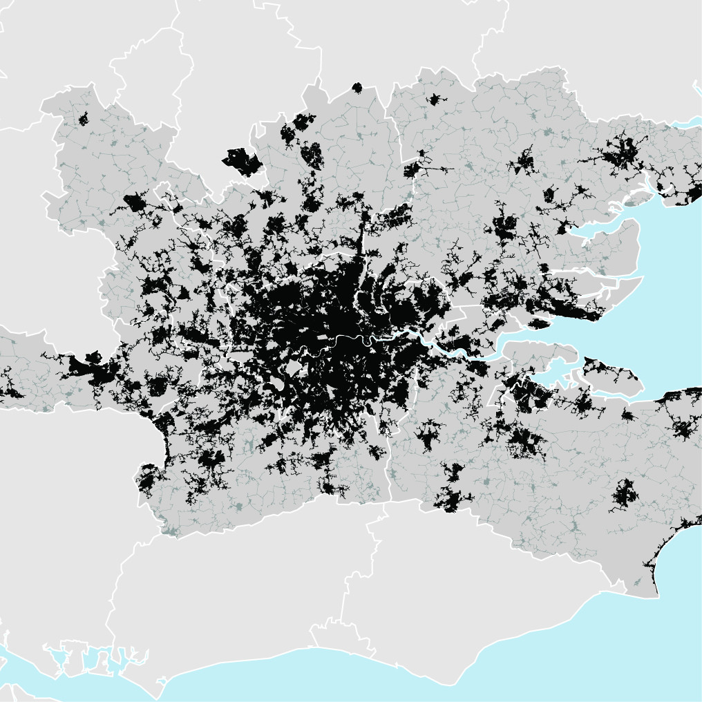 London, UK - density map