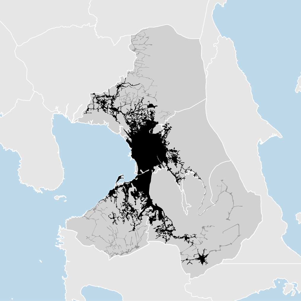 Manila, Philippines - density map