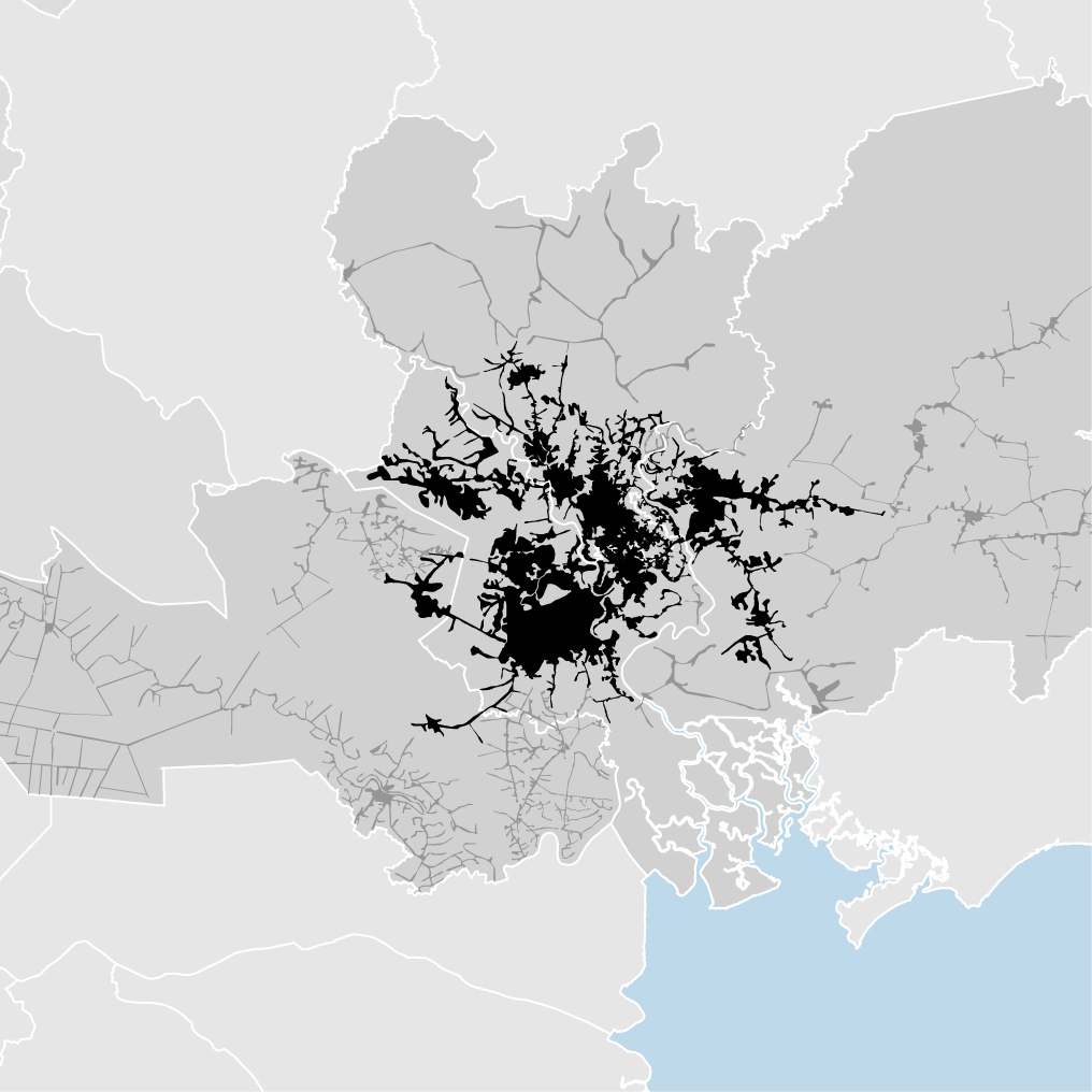 Ho Chi Minh City, Vietnam - density map